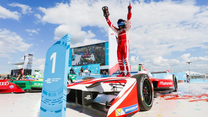 Mahindra Wins First Formula E Race