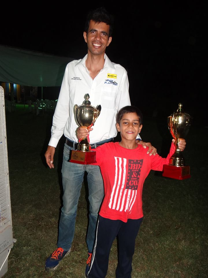 Racer Ranvir Singh with Rayomand Banajee of Rayo Racing