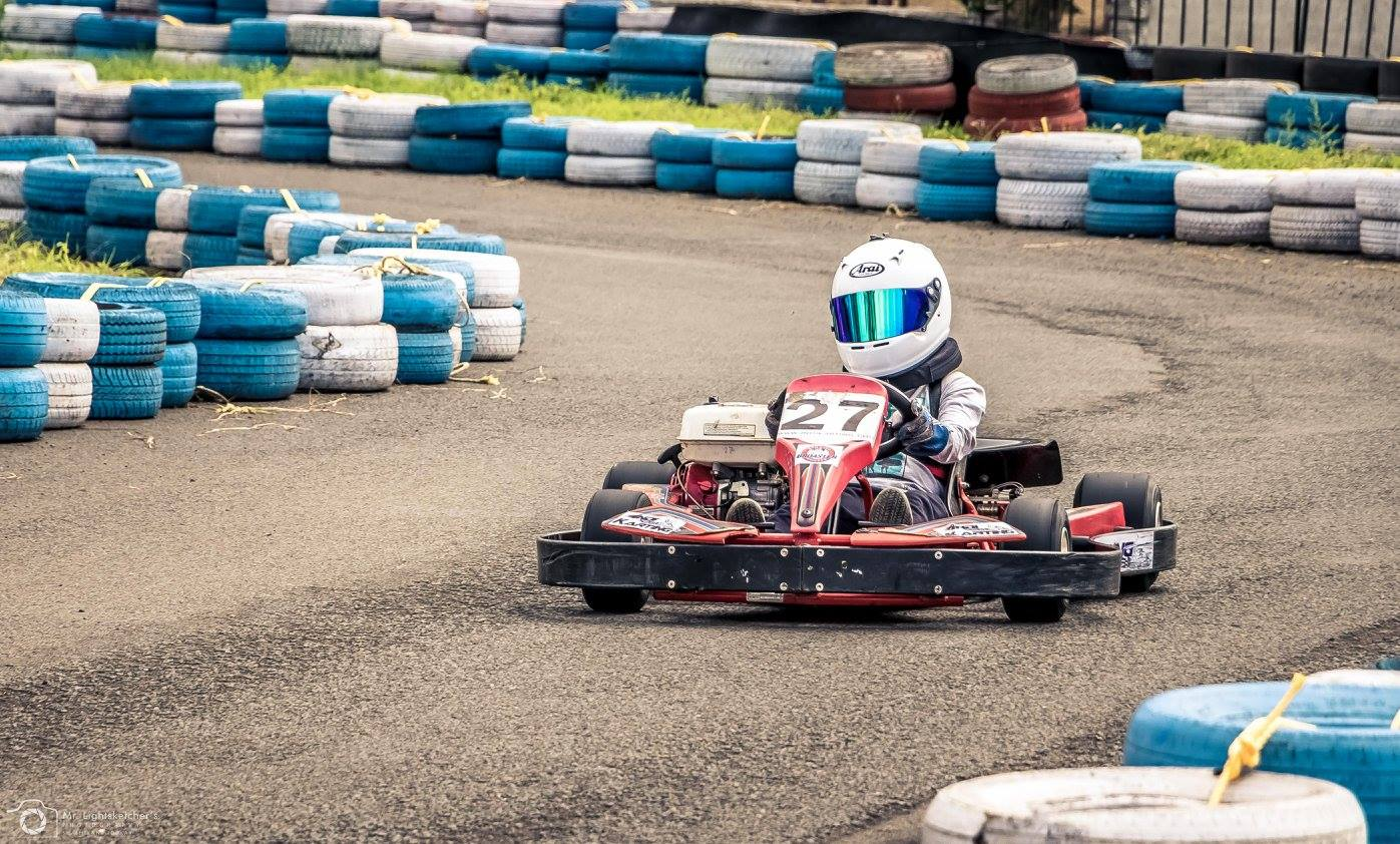 Racer Ranvir Singh at Rayo Racing IndiKart Pune