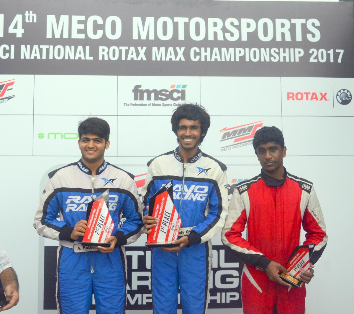 Aanjan Patodia - Rayo Racing, Aaroh Ravindra - Rayo Racing, Nirmal Umashankar - M Sport