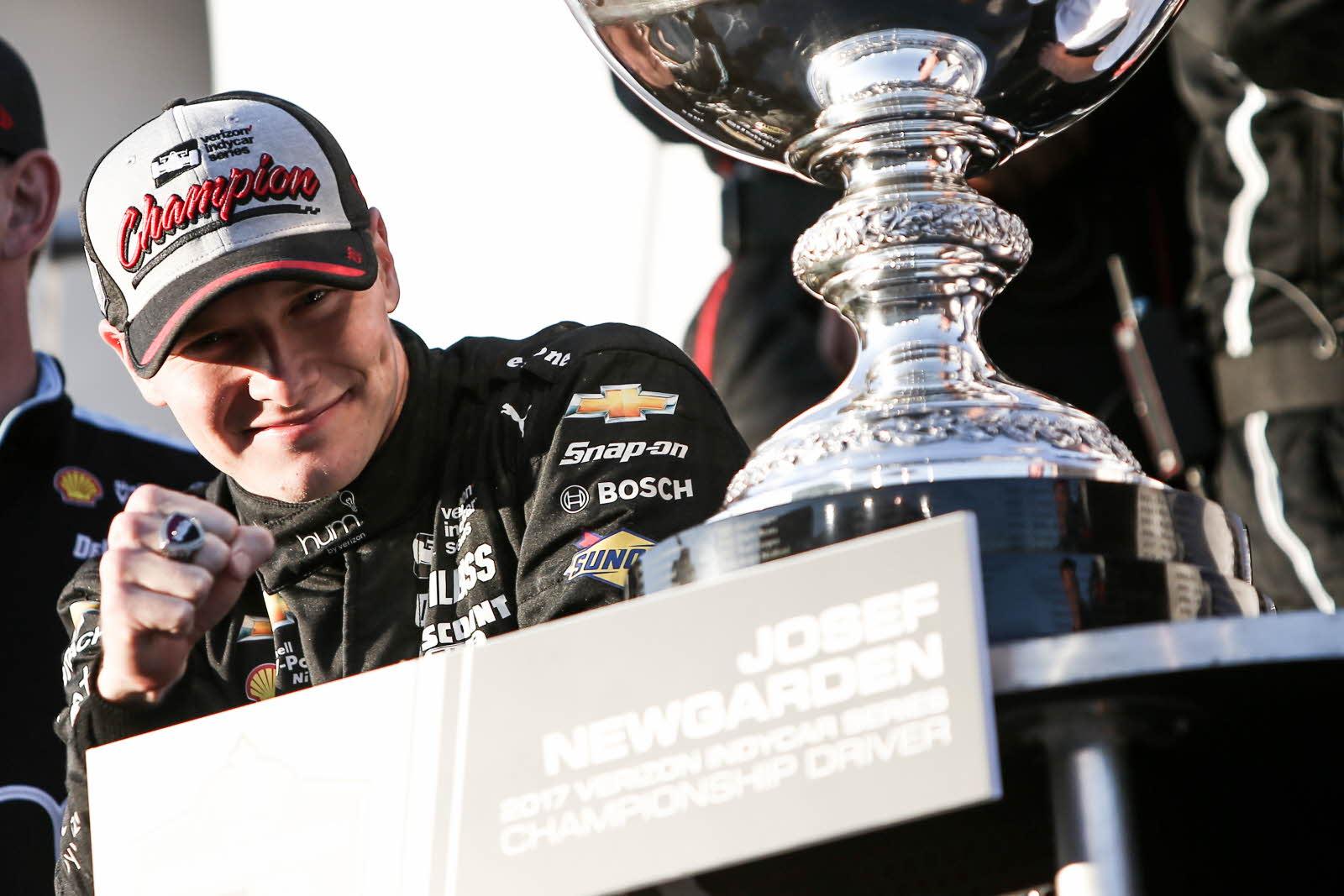 Josef Newgarden won the Indycar championship 2017