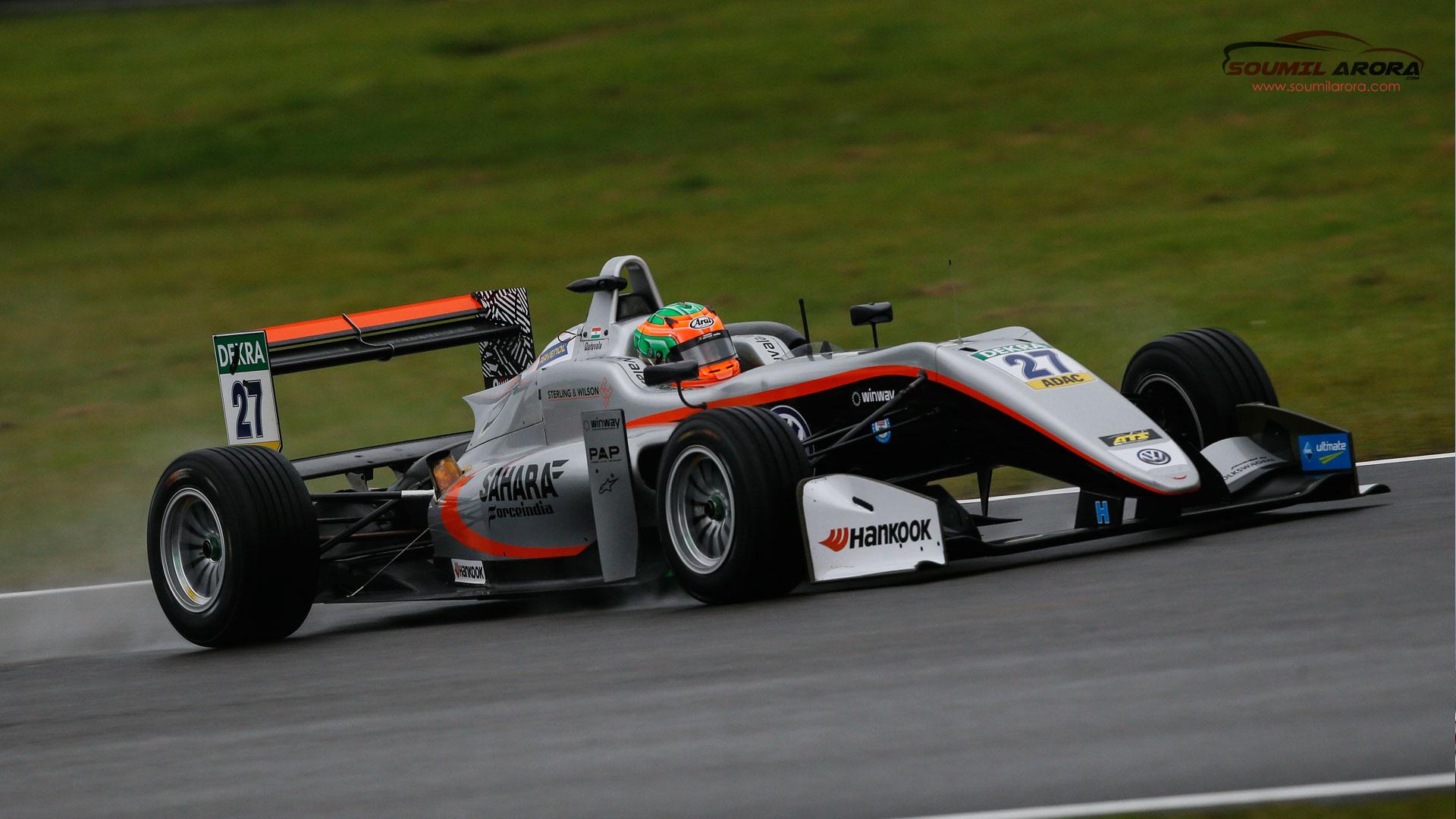 Jehan Daruvala Racing at Nurburgring Racetrack