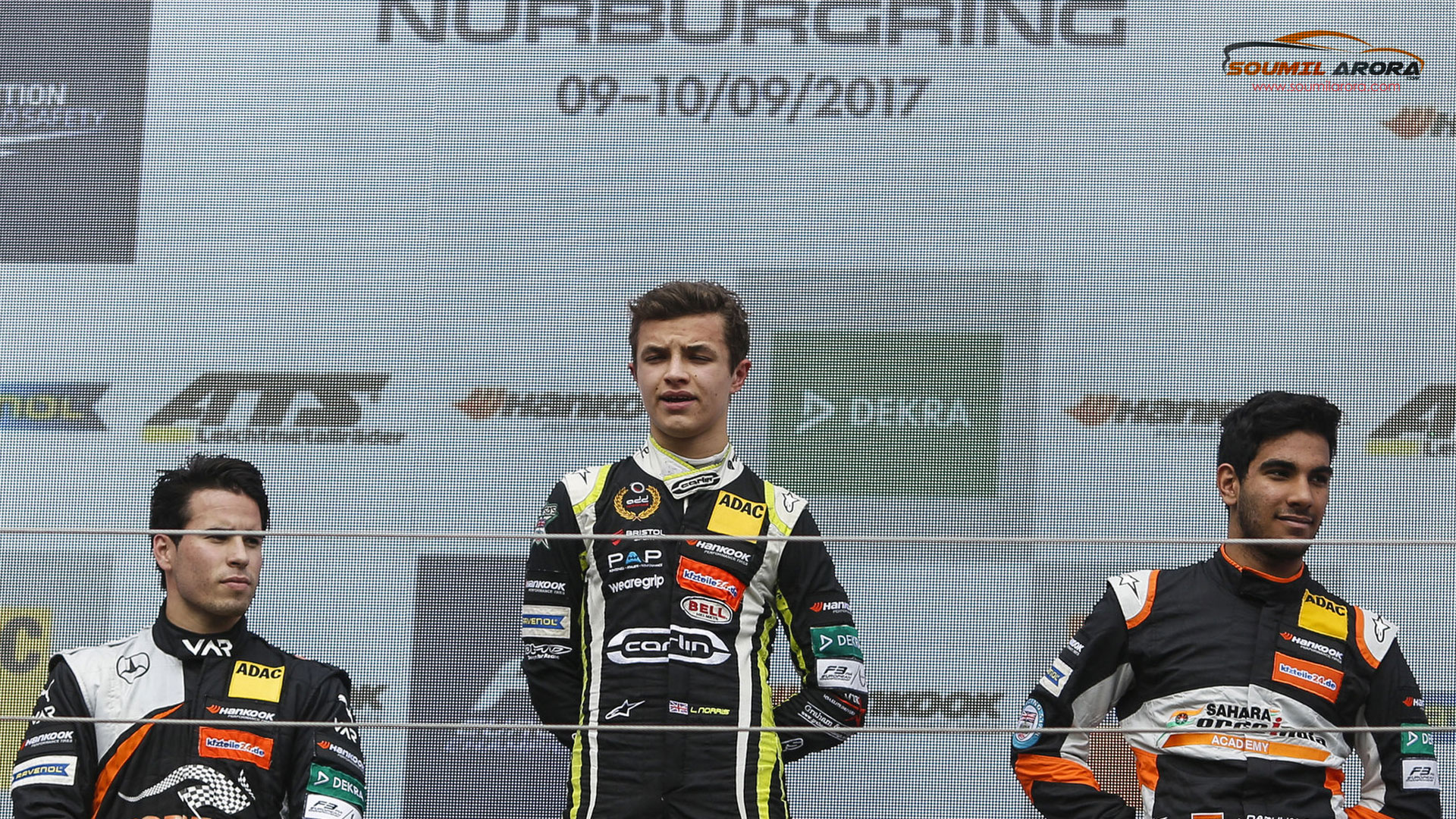 Jehan Daruvala Podium Finish at Nurburgring Racetrack