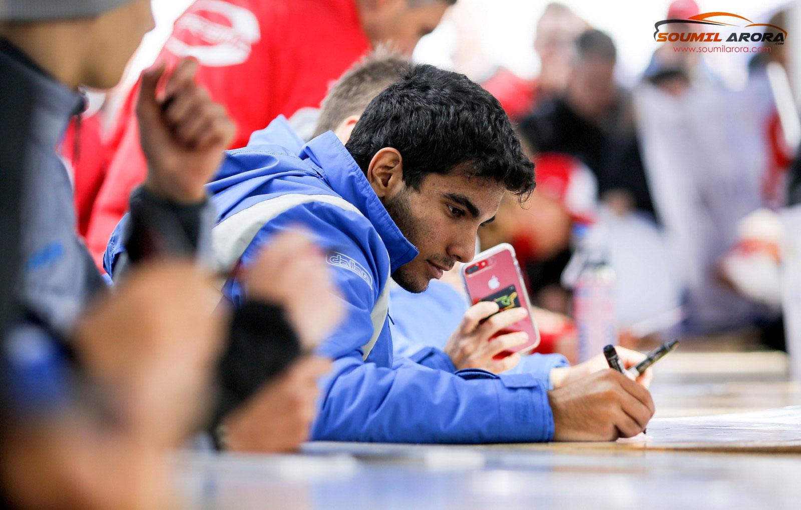 Jehan Daruvala Signing Autogrpahs at Nurburgriung
