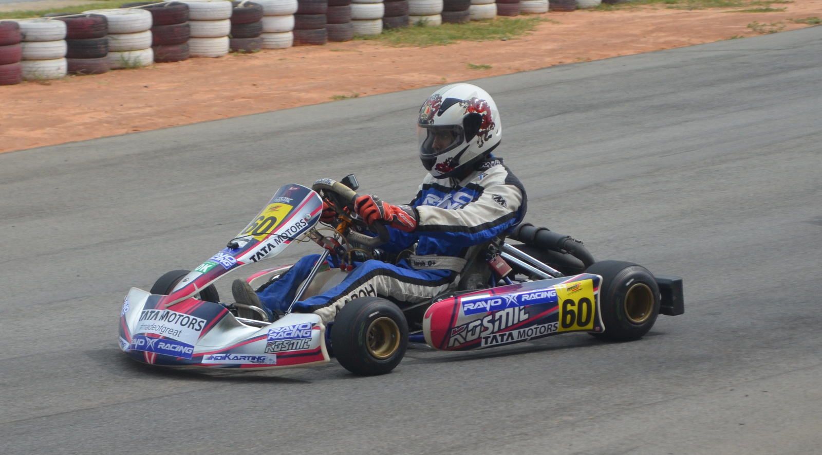 The championship leader, Aaroh Ravindra, en route to extending his lead