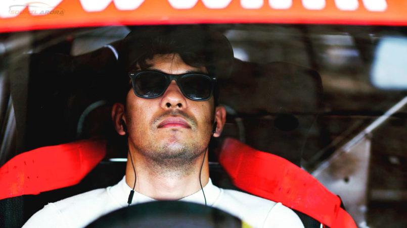 Saurav Bandyopadhyay before race: MRF MMSC Volkswagen AMEO Cup 2017. MMRT, Chennai