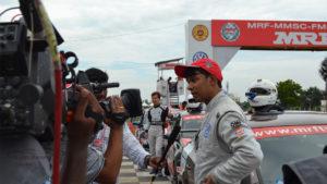 Saurav Bandyopadhyay Post Race Interview: MRF MMSC Volkswagen AMEO Cup 2017. MMRT, Chennai