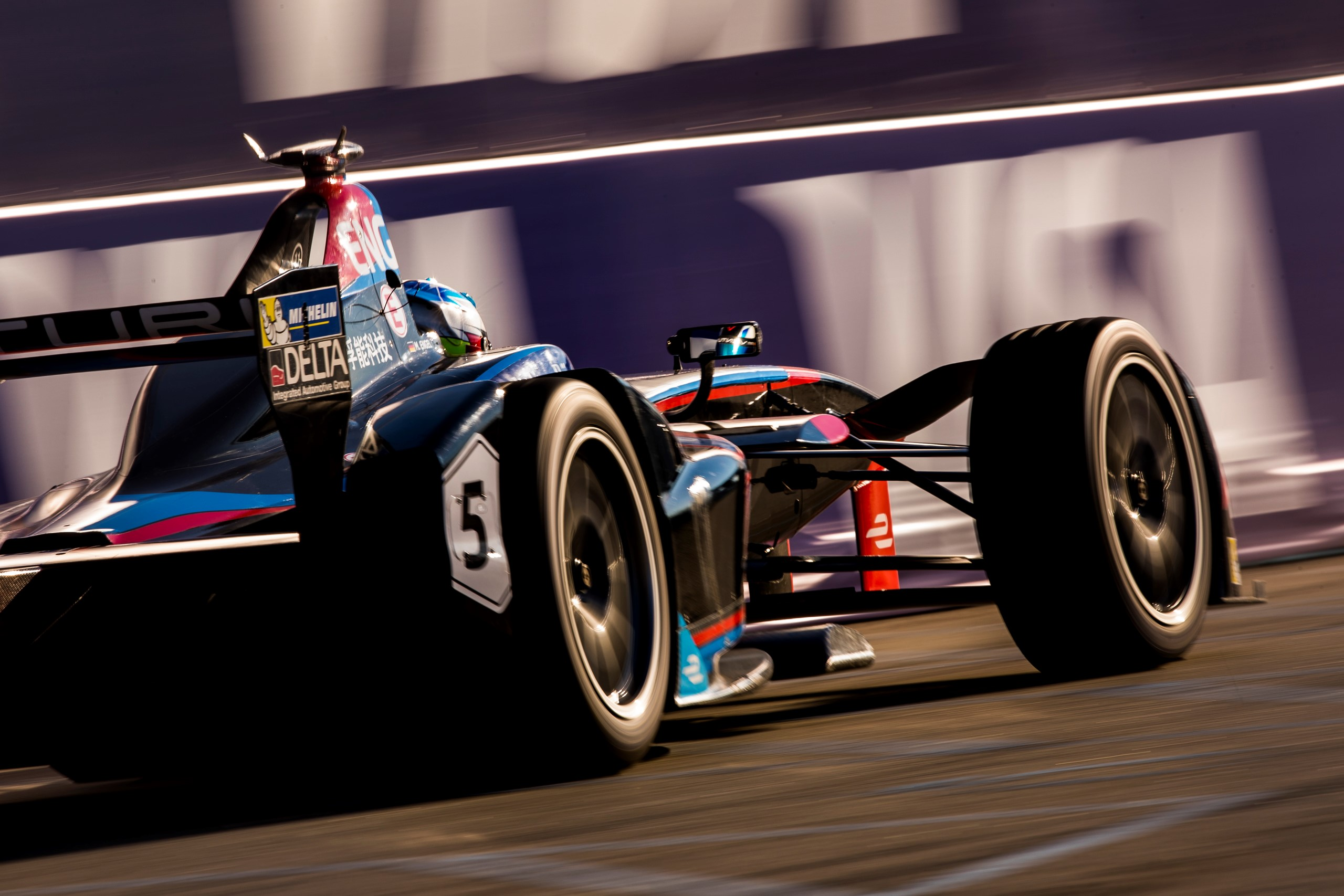 Formula E: Motor race on a peaceful Sunday in your city