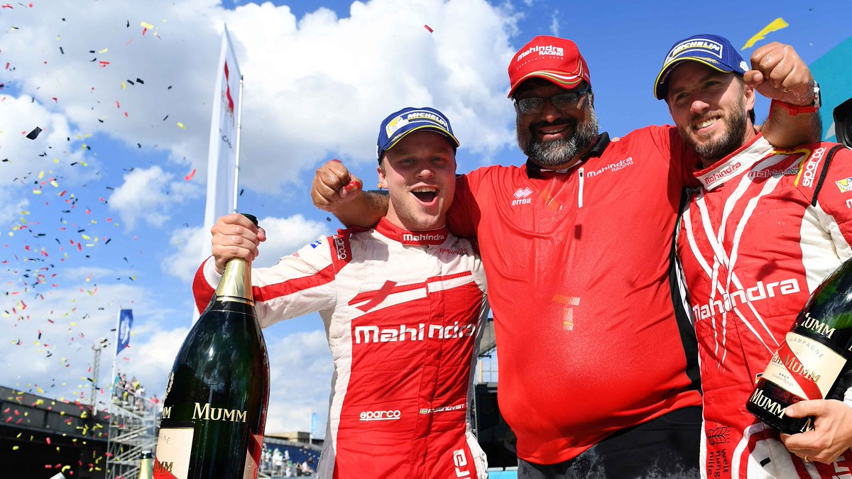 Felix Rosenqvist, Dilbagh Gill and Nick Heidfeld - Berlin ePrix