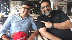 Soumil Arora with Dilbagh Gill, Team Principal & CEO - Mahindra Racing, formula E Team