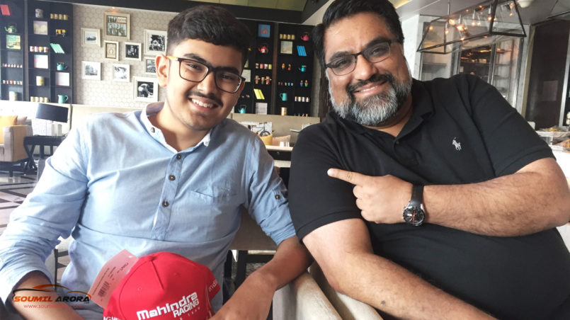 Soumil Arora with Dilbagh Gill, Team Principal & CEO - Mahindra Racing, formula E Team