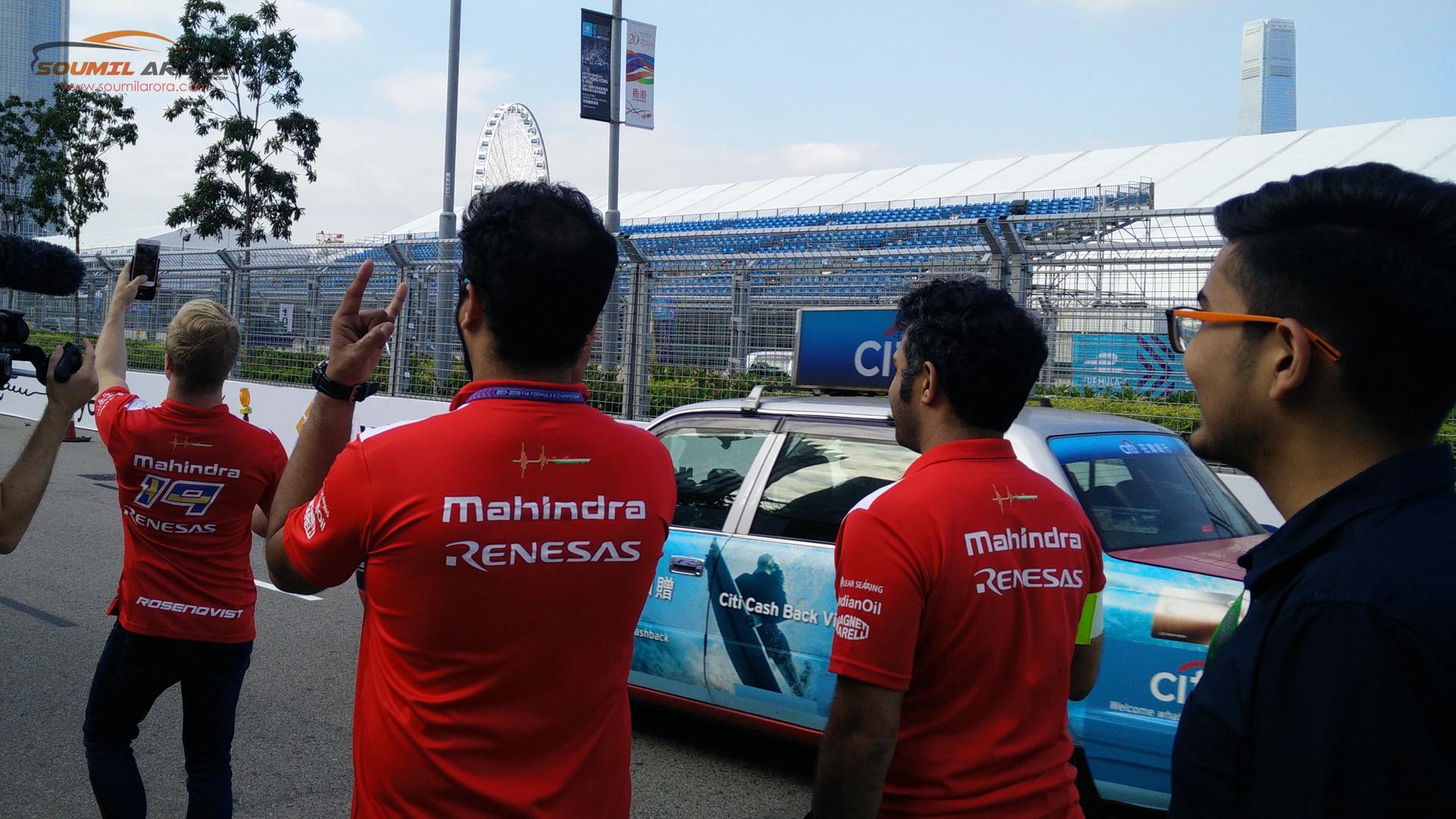 Track walk with Felix Rosenqvist (Mahindra Racing Formula e)