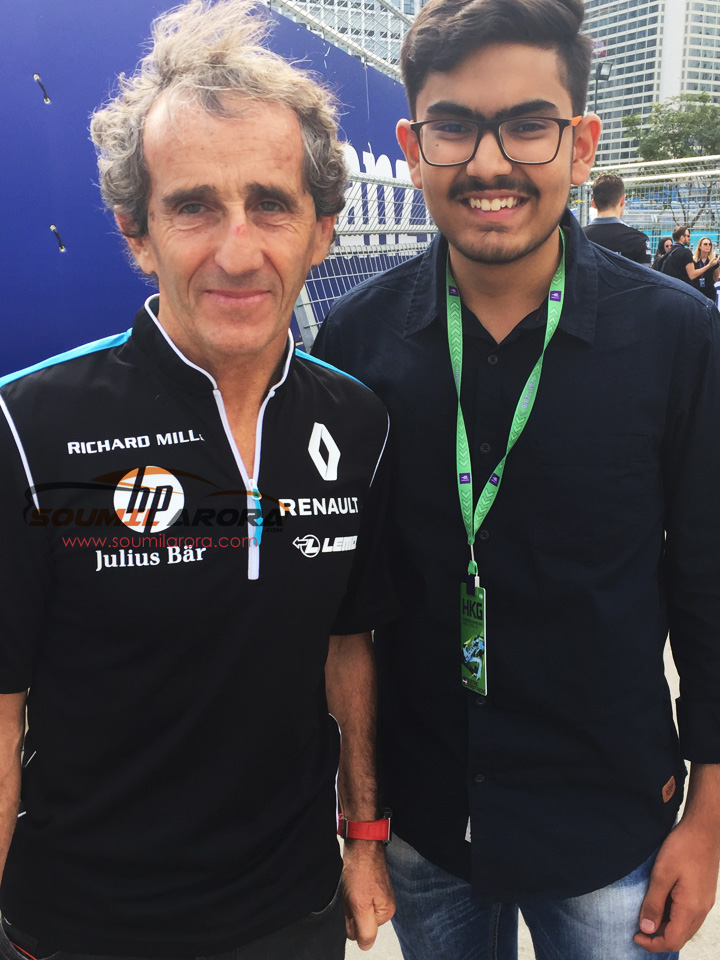 With Alain Prost