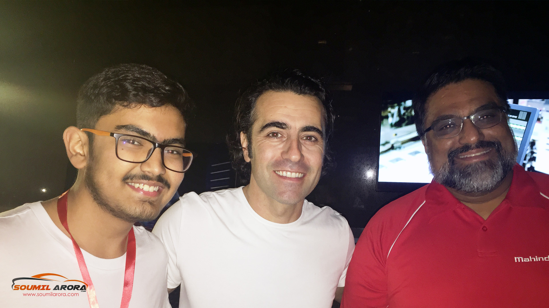 With Dario Franchitti and Dilbagh Gill at Grand Hyatt, Hong-Kong