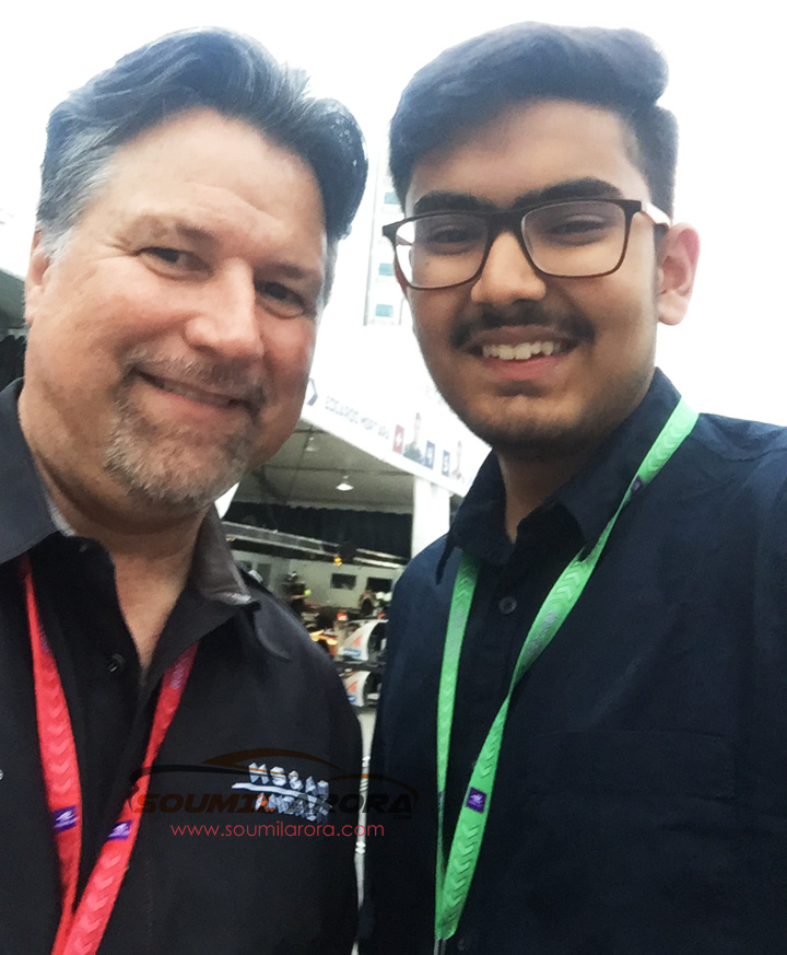 With Micheal Andretti