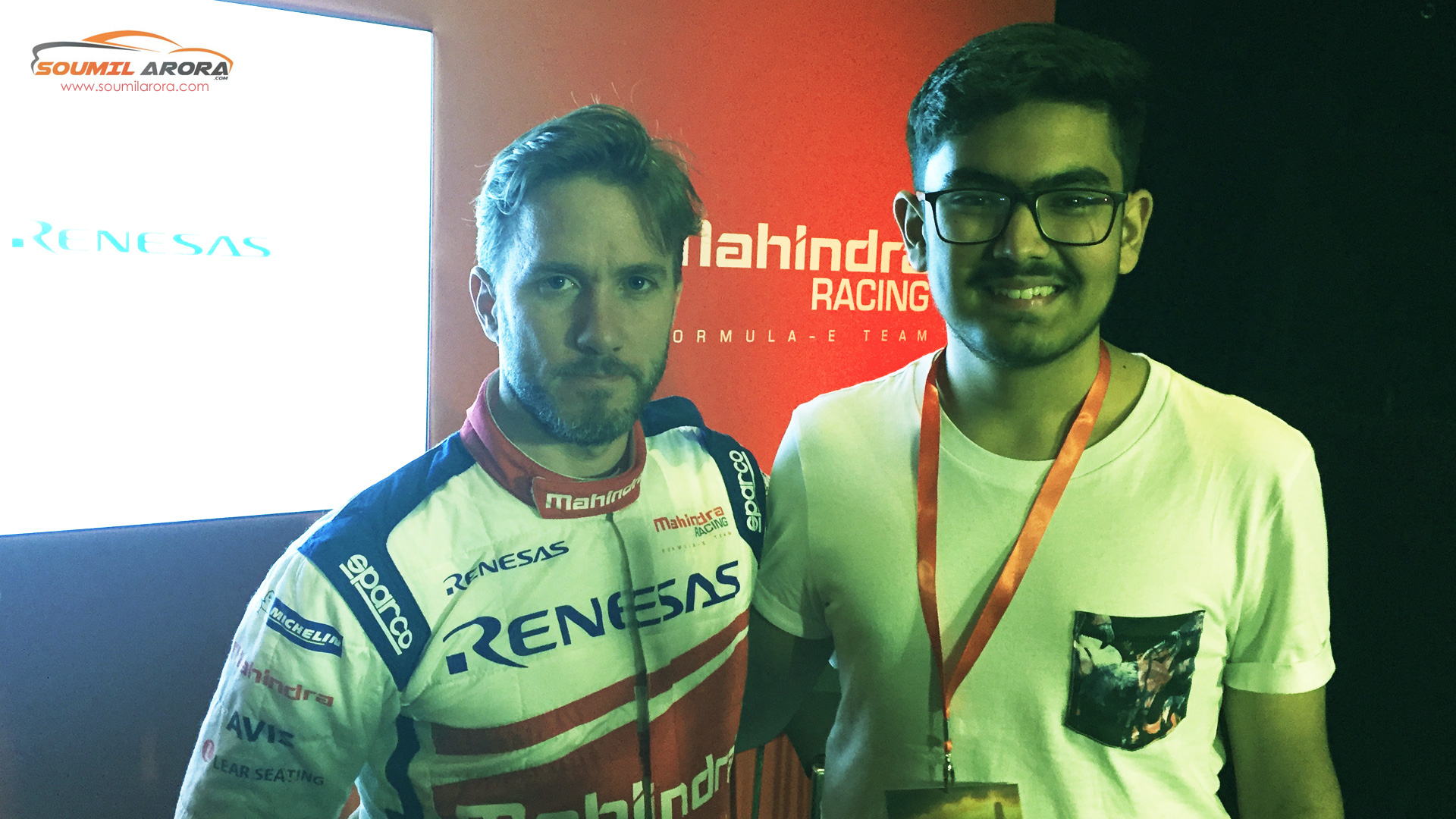 With Nick Heidfeld at Grand Hyatt, Hong Kong