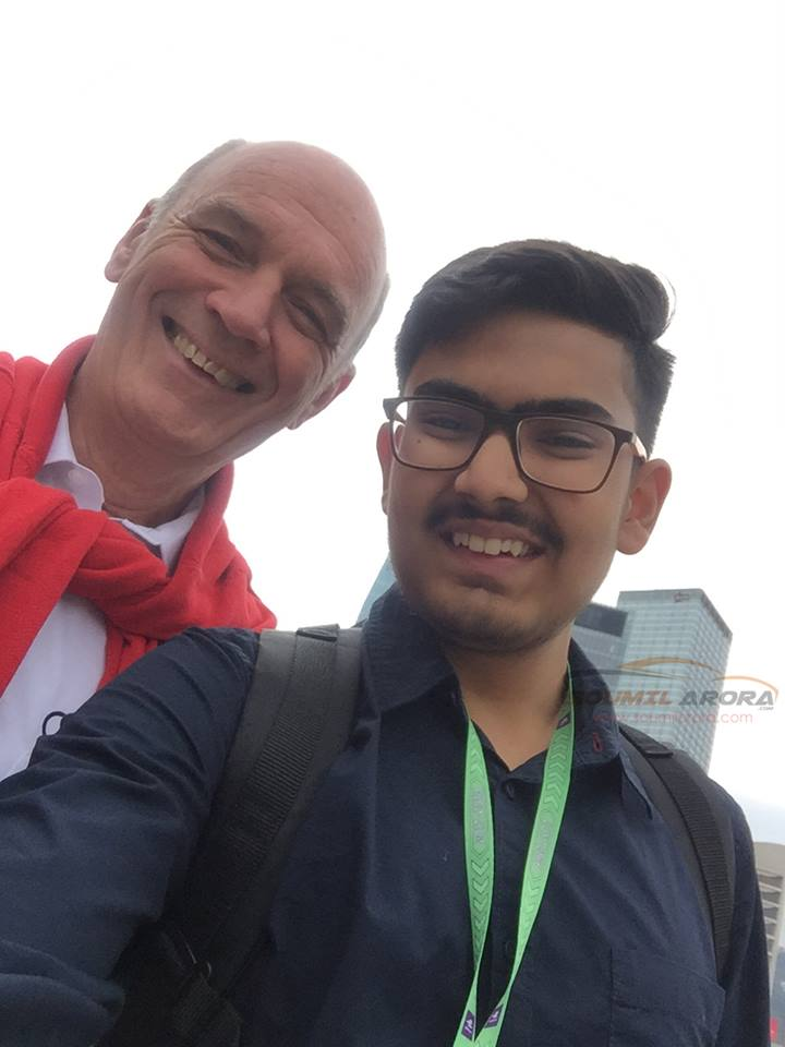 Soumil with Dr Wolfgang Ullrich of Audi Sport