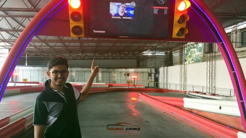 soumil arora at smaaash mumbai karting track