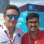Soumil-Arora with Alejandro Agag Formula-E, Hong-Kong 2017