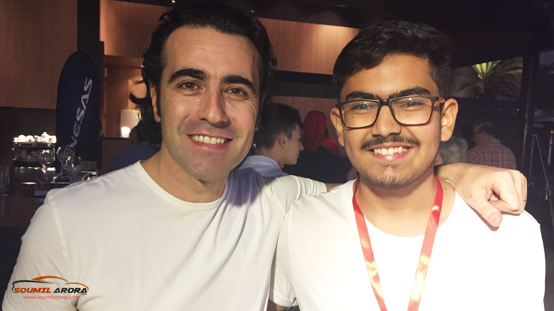 With Dario Franchitti (Four time IndyCar Series champion)