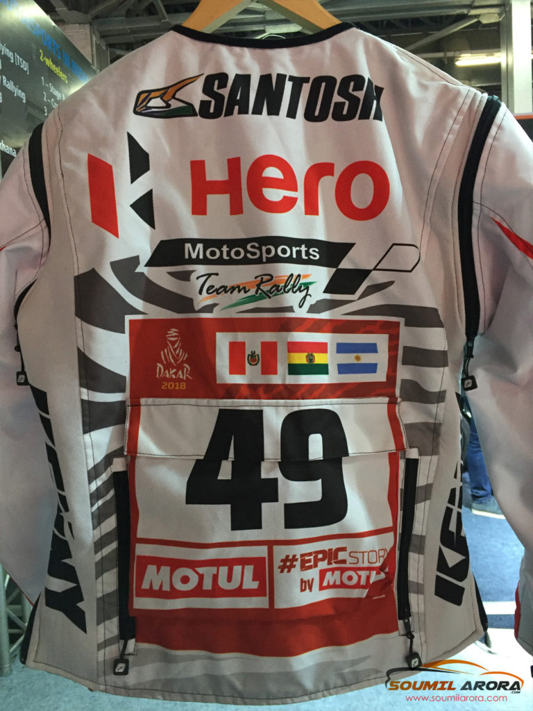 CS Santosh's Racing Suit - Dakar Rally 2018