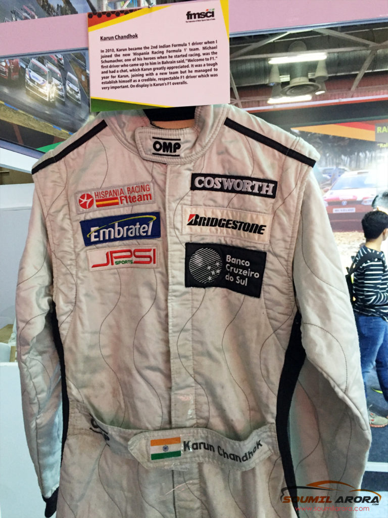 Karun Chandok's Racing Suit Hispania Racing Formula 1 Team