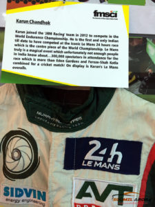 Karun Chandok's Racing Suit - 24 Hours of Le Mans