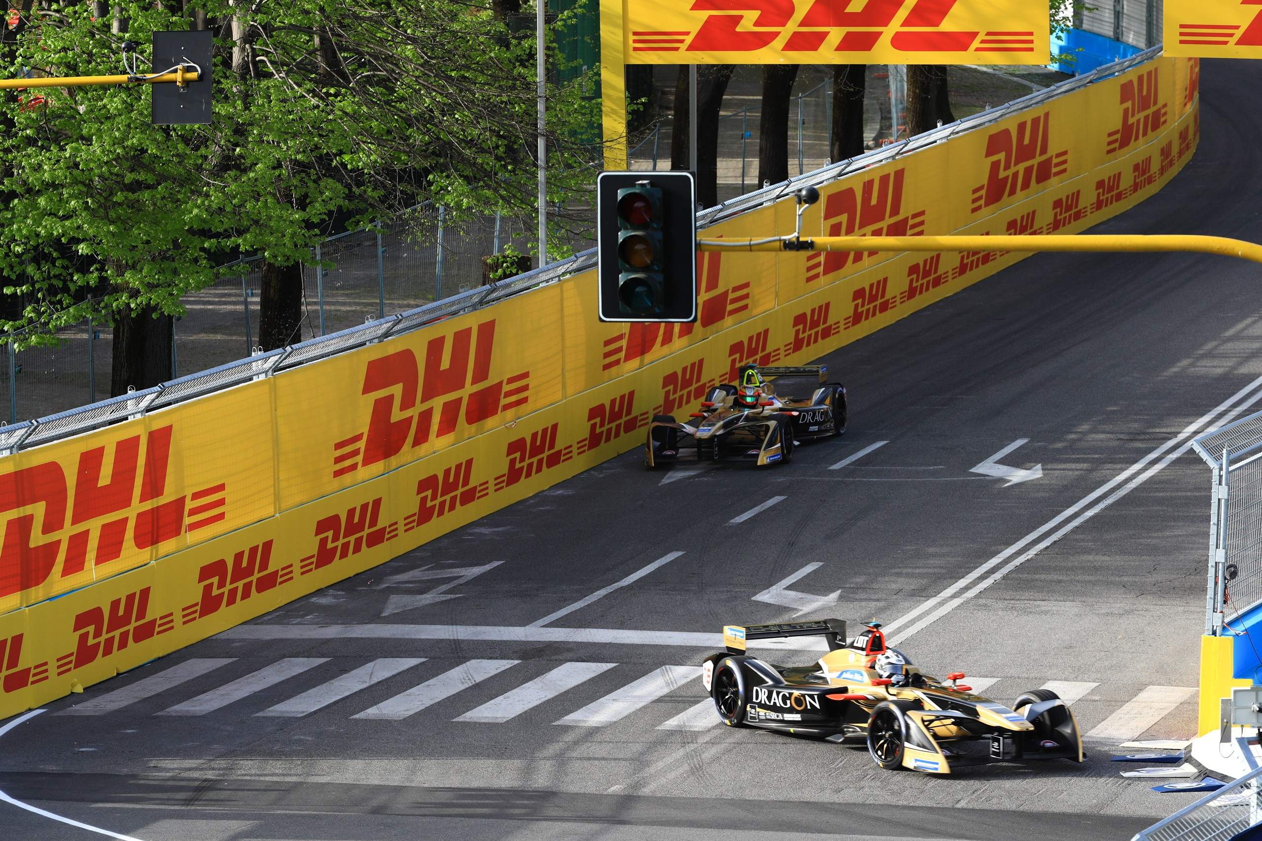 Andre Lotterer Jean Eric Vergne Techeetah Rome ePrix 2018 Formula E DHL