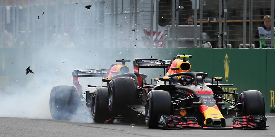 Verstappen Ricciardo Renault F1 Azerbaijan Red Bull
