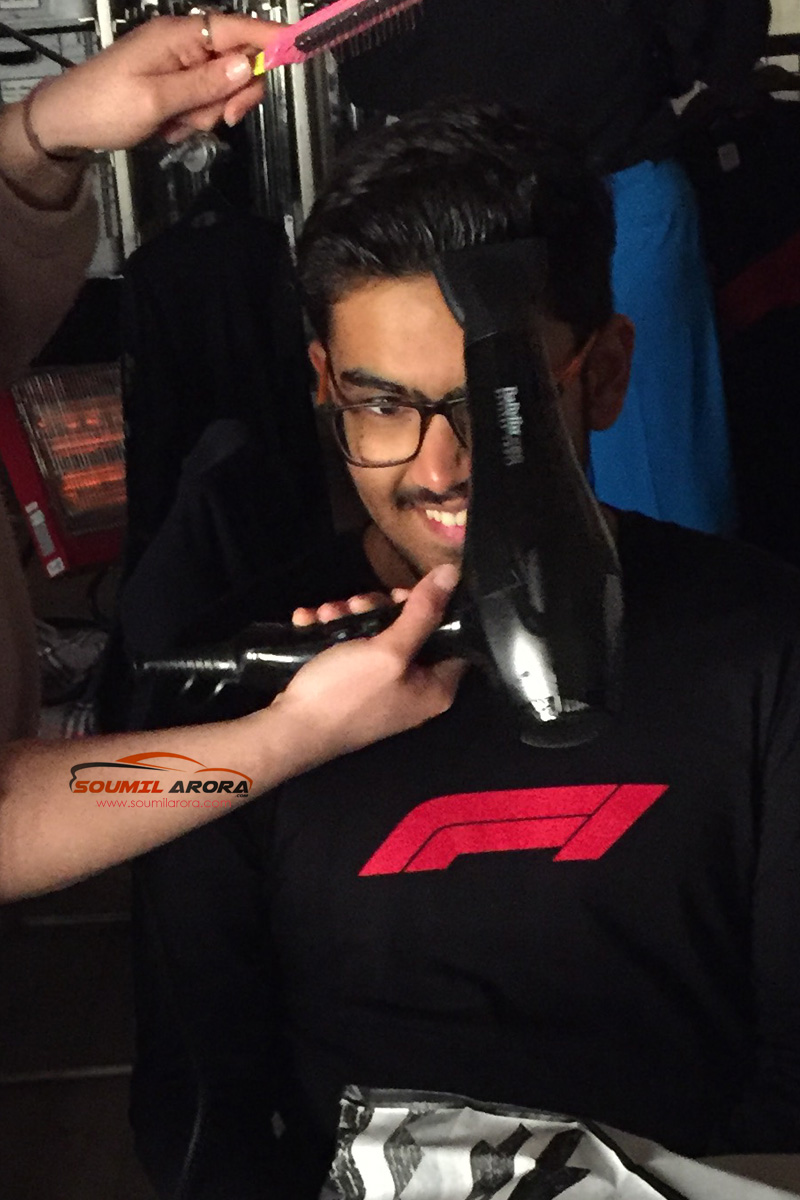 Formula 1 Engineered Insanity F1 Super Fan Soumil Arora India Promo Shoot Make Up
